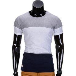 T-SHIRT MĘSKI BEZ NADRUKU S836 - SZARY. Szare t-shirty męskie z nadrukiem Inny, m. Za 29,00 zł.