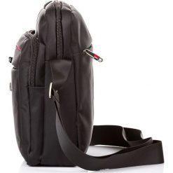 Torba męska bag street listonoszka. Czarne torby na ramię męskie marki Bag Street, w paski, na ramię. Za 59,90 zł.