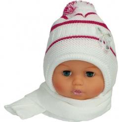 Czapka niemowlęca z szalikiem CZ+S 154A. Szare czapeczki niemowlęce Proman. Za 38,76 zł.