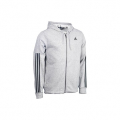 Bluza na zamek z kapturem Gym & Pilates męska. Szare bejsbolówki męskie Adidas, m, z bawełny, z kapturem. Za 169,99 zł.