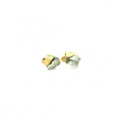 Kolczyki Ametyst Zielony złoto. Zielone kolczyki damskie Brazi druse jewelry, z ametystem, pozłacane, na sztyftcie. Za 170,00 zł.