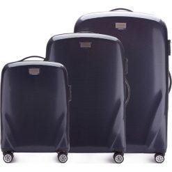 Zestaw walizek 56-3P-57S-90. Niebieskie walizki marki Wittchen, z gumy, duże. Za 1010,91 zł.