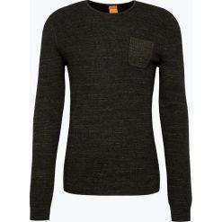 Swetry klasyczne męskie: BOSS Casual – Sweter męski z dodatkiem alpaki – Kutask, zielony