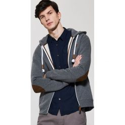 Bluzy męskie: Miękka bluza z kapturem – Szary