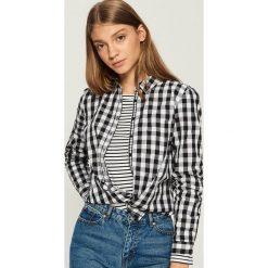 Koszula w kratę - Czarny. Czarne koszule damskie marki Sinsay, l. W wyprzedaży za 29,99 zł.