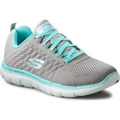 Buty SKECHERS - Break Free 12757/GYLB Gray/Light Blue. Szare buty do fitnessu damskie marki KALENJI, z gumy. W wyprzedaży za 209,00 zł.