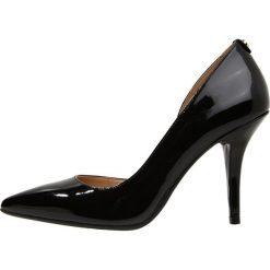 MICHAEL Michael Kors NATHALIE Szpilki black. Czarne szpilki marki MICHAEL Michael Kors, z gumy, przed kolano, na wysokim obcasie. Za 509,00 zł.