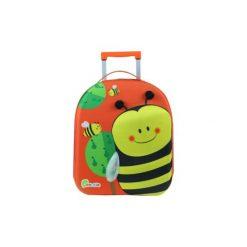 BAYER CHIC 2000 Bouncie Walizka - Pszczółka, 40 cm - pomarańczowy. Czarne walizki marki Jack Wolfskin, w paski, z materiału, małe. Za 119,00 zł.