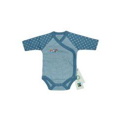 Ebi & Ebi  Fairtrade Body dziecięce, niebieski. Niebieskie body niemowlęce marki Ebi & Ebi, z bawełny, z długim rękawem. Za 49,00 zł.