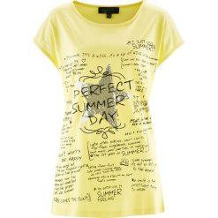 Bluzki, topy, tuniki: T-shirt z krótkim rękawem bonprix jasna limonka z nadrukiem
