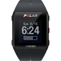 Zegarki męskie: Zegarek sportowy z wbudowanym GPS czarny HR Polar V800