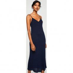 Mango - Sukienka Indian. Czarne sukienki dzianinowe marki Mohito, l, proste. W wyprzedaży za 89,90 zł.