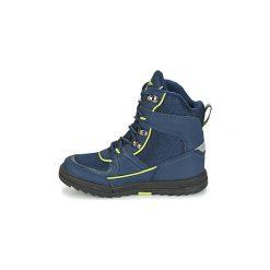 Śniegowce Dziecko Kangaroos  ADRIAN II. Niebieskie buty zimowe chłopięce marki Timberland, z gumy. Za 231,20 zł.