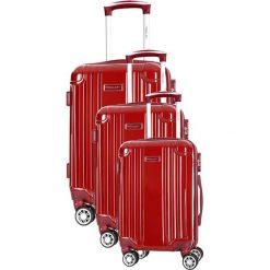 Zestaw walizek w kolorze bordowym - 3 szt. Czerwone walizki marki Travel One, z materiału. W wyprzedaży za 659,95 zł.