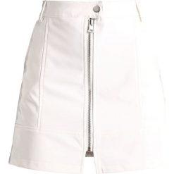 Spódniczki: Missguided B&&B VINYL  Spódnica trapezowa white