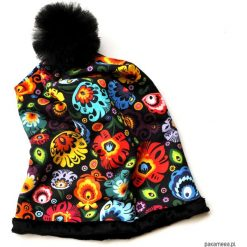 Czapki damskie: Oryginalna czapka beanie FOLK pompon z TIULU