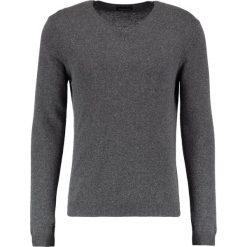 Swetry klasyczne męskie: Sisley Sweter dark grey melange