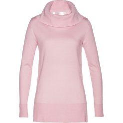 Sweter z szerokim golfem bonprix bladoróżowy. Czerwone golfy damskie bonprix. Za 179,99 zł.