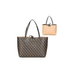Torby shopper Guess  BOBBI INSIDE OUT TOTE. Brązowe shopper bag damskie marki Guess, z aplikacjami. Za 560,56 zł.