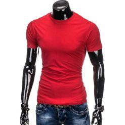 T-shirty męskie z nadrukiem: T-SHIRT MĘSKI BEZ NADRUKU S884 – CZERWONY