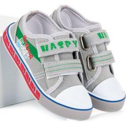 Chłopięce trampki na rzep MAKENZIE. Szare buty sportowe chłopięce HASBY, sportowe. Za 36,90 zł.
