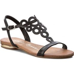 Rzymianki damskie: Sandały ROBERTO – 577 Czarne Lico