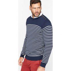 Kardigany męskie: Sweter w paski z zapięciem na guziki