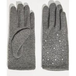 Rękawiczki z aplikacją - Szary. Szare rękawiczki damskie Sinsay, z aplikacjami. Za 24,99 zł.