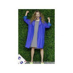 VIOLET PŁASZCZ. Fioletowe płaszcze damskie Yes to dress by bożena karska, w paski, z tkaniny. Za 640,00 zł.