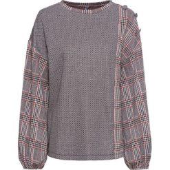 Swetry damskie: Sweter bonprix brązowy w kratę
