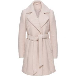 Płaszcze damskie: Płaszcz wełniany z wykładanym kołnierzem bonprix jasnoróżowy