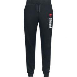 The Punisher Logo Spodnie dresowe czarny. Czarne spodnie dresowe męskie The Punisher, z nadrukiem, z dresówki. Za 99,90 zł.