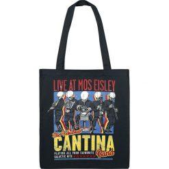 Star Wars Cantina Band On Tour Torba płócienna czarny. Czarne torebki klasyczne damskie Star Wars, z motywem z bajki. Za 54,90 zł.
