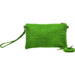 """Puzderka: Skórzana kopertówka """"Catarina"""" w kolorze zielonym – 26 x 16 x 3 cm"""