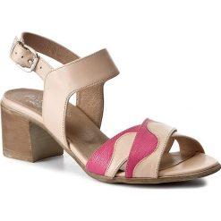 Rzymianki damskie: Sandały ANN MEX – 8028 02S+02RV Róż