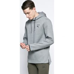 Puma - Bluza. Szare bluzy męskie rozpinane Puma, l, z bawełny, z kapturem. W wyprzedaży za 199,90 zł.