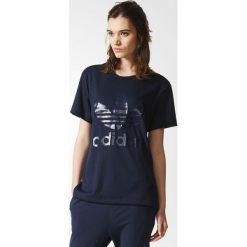 Koszulka adidas Boyfriend Trefoil Tee (BR9378). Czarne bluzki damskie Adidas, z krótkim rękawem. Za 64,99 zł.