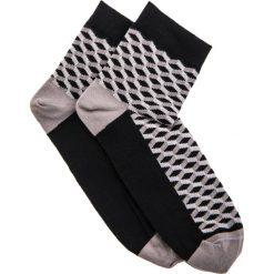 SKARPETY MĘSKIE WE WZORY U08 - CZARNO-SZARE. Czarne skarpetki męskie Ombre Clothing, z bawełny. Za 7,99 zł.