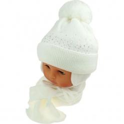 Czapka niemowlęca z szalikiem CZ+S 128B. Szare czapeczki niemowlęce Proman. Za 39,76 zł.