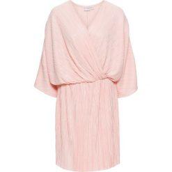 Sukienki hiszpanki: Sukienka plisowana bonprix bladoróżowy