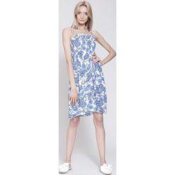Sukienki: Biało-Niebieska Sukienka Blue Moment