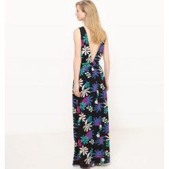 Długie sukienki: Sukienka długa, bez rękawów, z nadrukiem