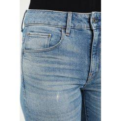 GStar 3301 HIGH SKINNY Jeans Skinny Fit lyse stretch denim. Niebieskie jeansy damskie marki G-Star, z bawełny. W wyprzedaży za 375,20 zł.