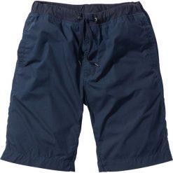 Bermudy z wygodnym paskiem bonprix ciemnoniebieski. Niebieskie bermudy męskie bonprix. Za 79,99 zł.