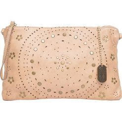 Torebki klasyczne damskie: Skórzana torebka w kolorze szarobrązowym – 32 x 20 x 1 cm