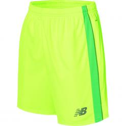 Spodenki treningowe - MS710007TOX. Żółte spodenki sportowe męskie marki New Balance, m, z materiału, do piłki nożnej. W wyprzedaży za 69,99 zł.