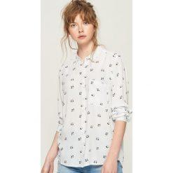 Koszula - Biały. Białe koszule damskie Sinsay, l. Za 39,99 zł.