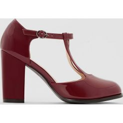 Buty ślubne damskie: Czółenka lakierowane na szeroką stopę 38-45