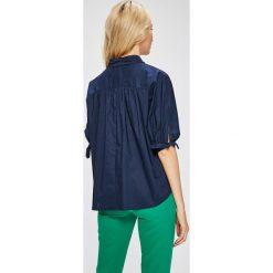 Answear - Koszula Stripes Vibes. Szare koszule damskie marki ANSWEAR, l, z bawełny, casualowe, z klasycznym kołnierzykiem, z krótkim rękawem. W wyprzedaży za 79,90 zł.