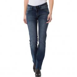 """Dżinsy """"Rose"""" - Regular fit - w kolorze granatowym. Niebieskie spodnie z wysokim stanem marki Cross Jeans, z aplikacjami. W wyprzedaży za 136,95 zł."""